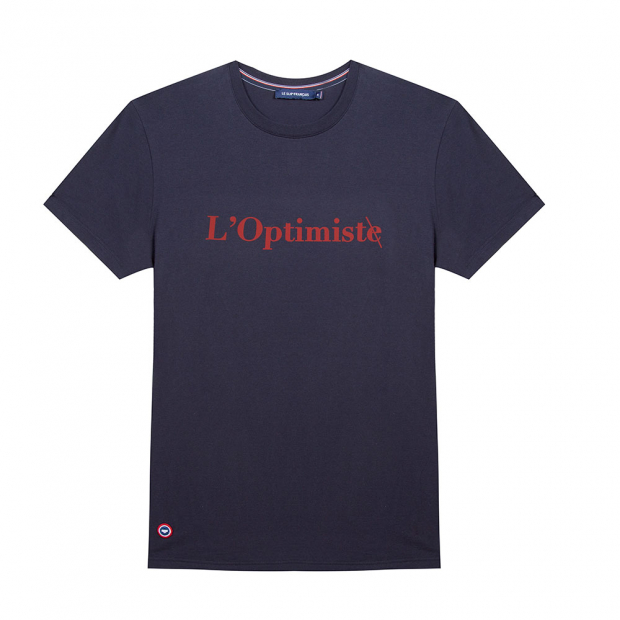 Marineblaues T-Shirt 'L'Optimiste'