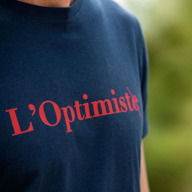 T-shirt marine sérigraphié 100% coton
