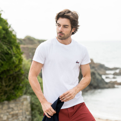 Le Jean F Pêcheurs - Tshirt Blanc / pecheur