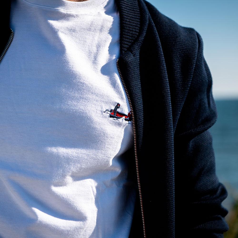 Le jean f BLANC / PECHEUR - Tshirt BLANC / PECHEUR