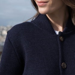 Vêtements Femme - Le Eloi - Veste en maille bleu marine