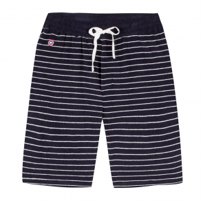 Striped shorts - terry cloth
