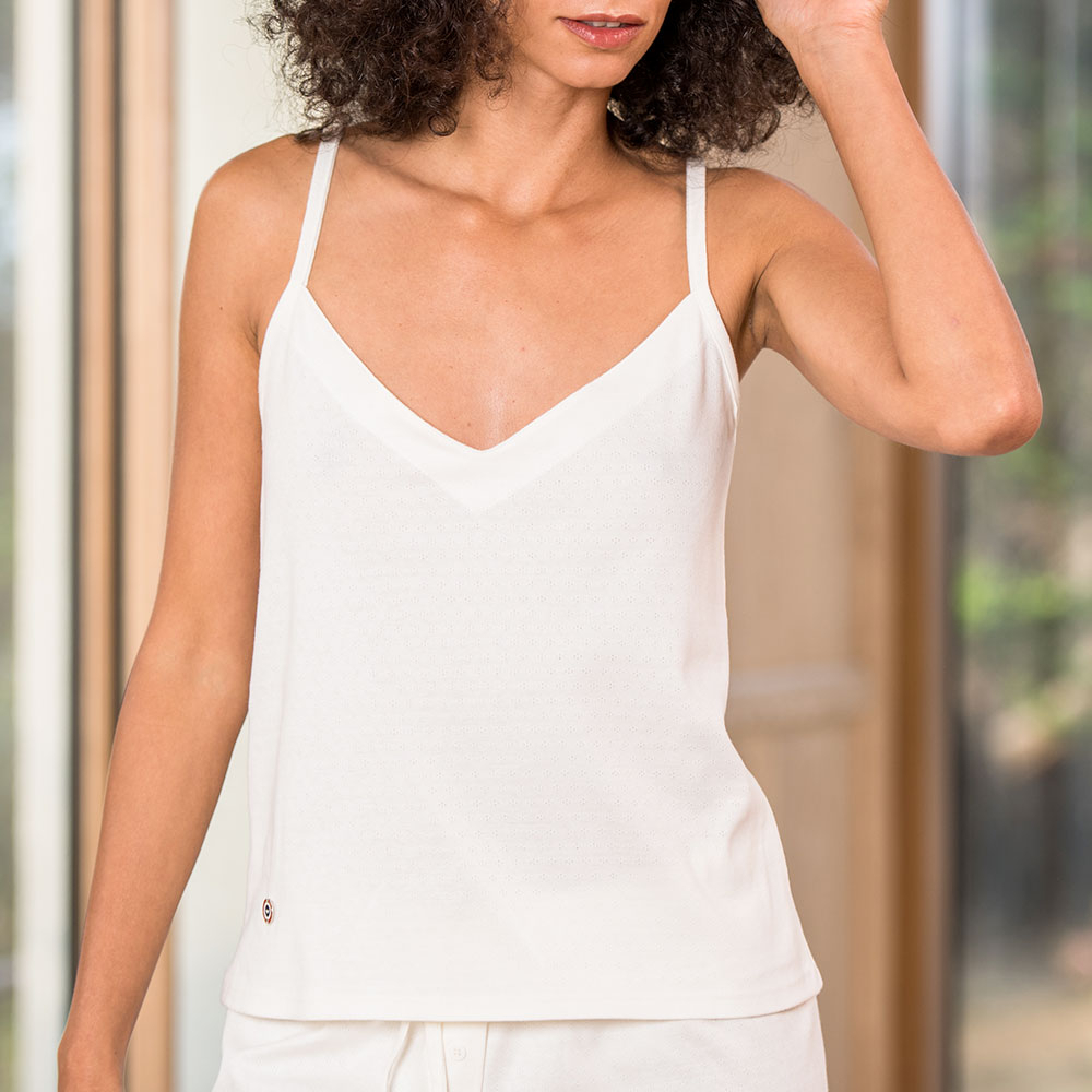 La Ninon Écrue - Haut pyjama ecru