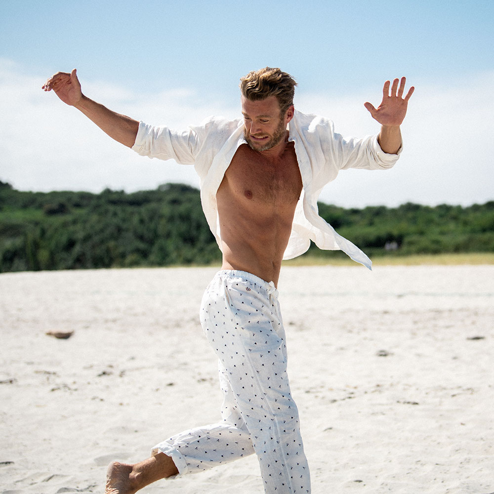 Le Charlie Fanion Bleu - Bas pyjama Fanion B