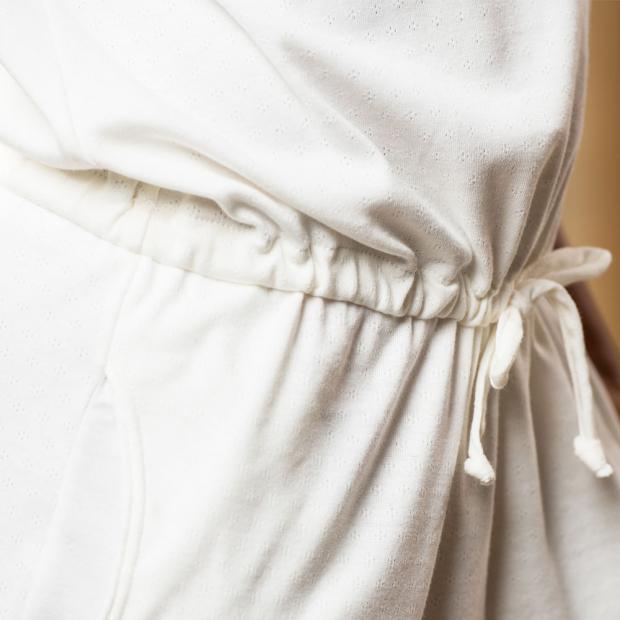 Combishort ajourée en coton