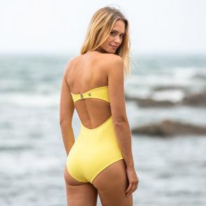 Badeanzug in gelb