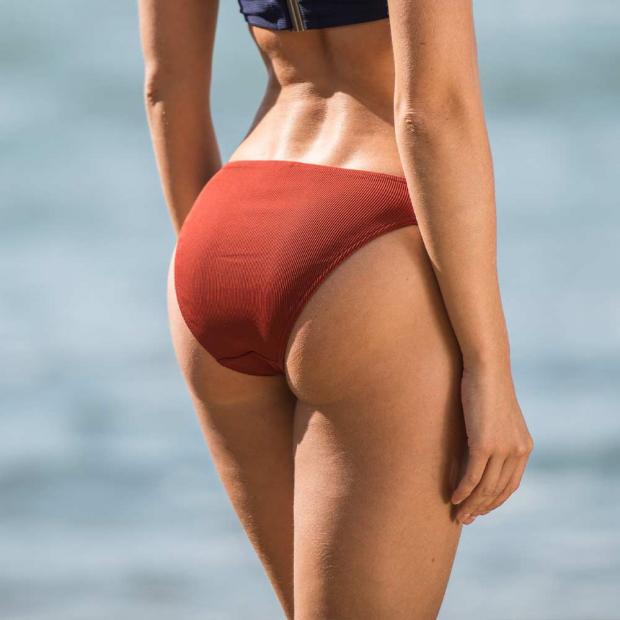 Bikini bottom in red /blue