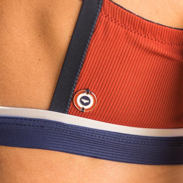 Bikni top in red / blue