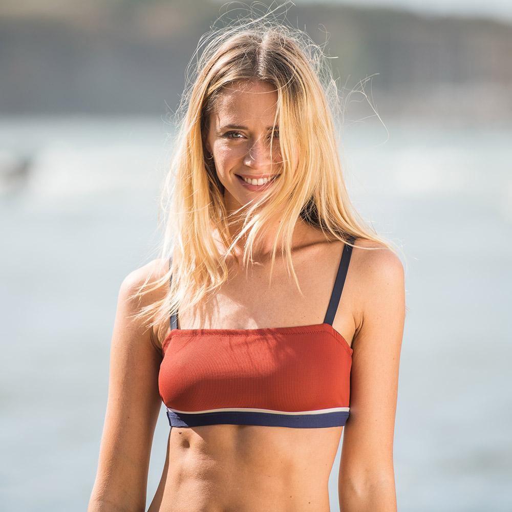 La corail ROUGET/MARINE/ECRU - Bikini ROUGET/MARINE/ECRU