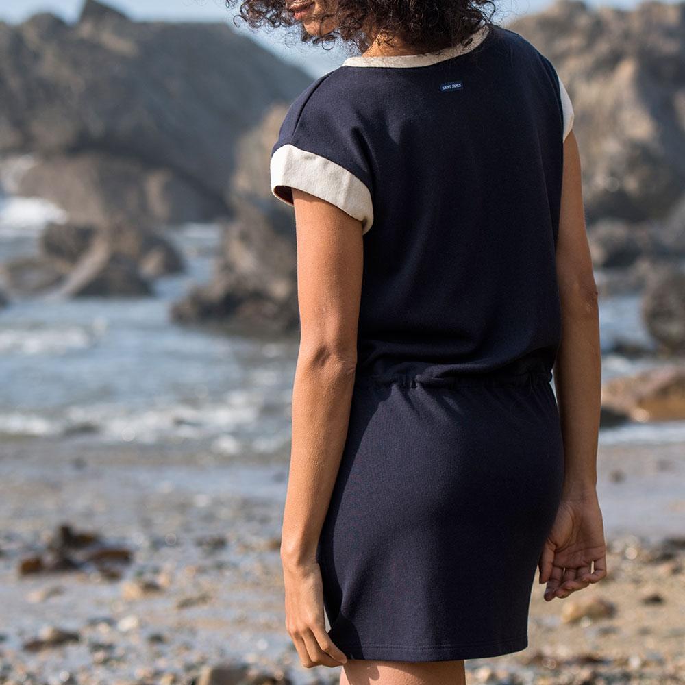 La Elis Marine et Ecru - Robe marine/ecru