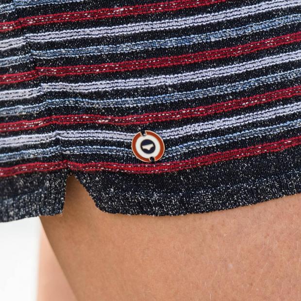 Short tricot marinière
