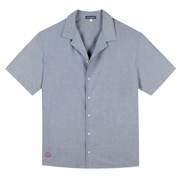 Buttoned Shirt in greyish blue