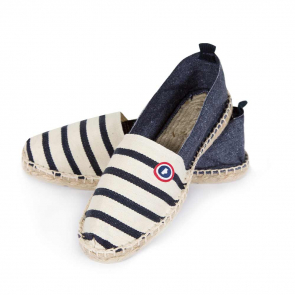 Espadrilles in blue striped