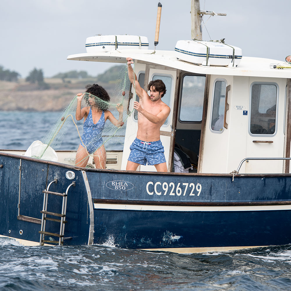 Le Belem Sardines - Short de bain sardines