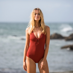 Badeanzug in rot