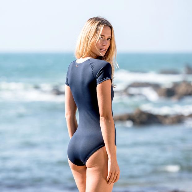 Nayvblue short-sleeved swimsuit