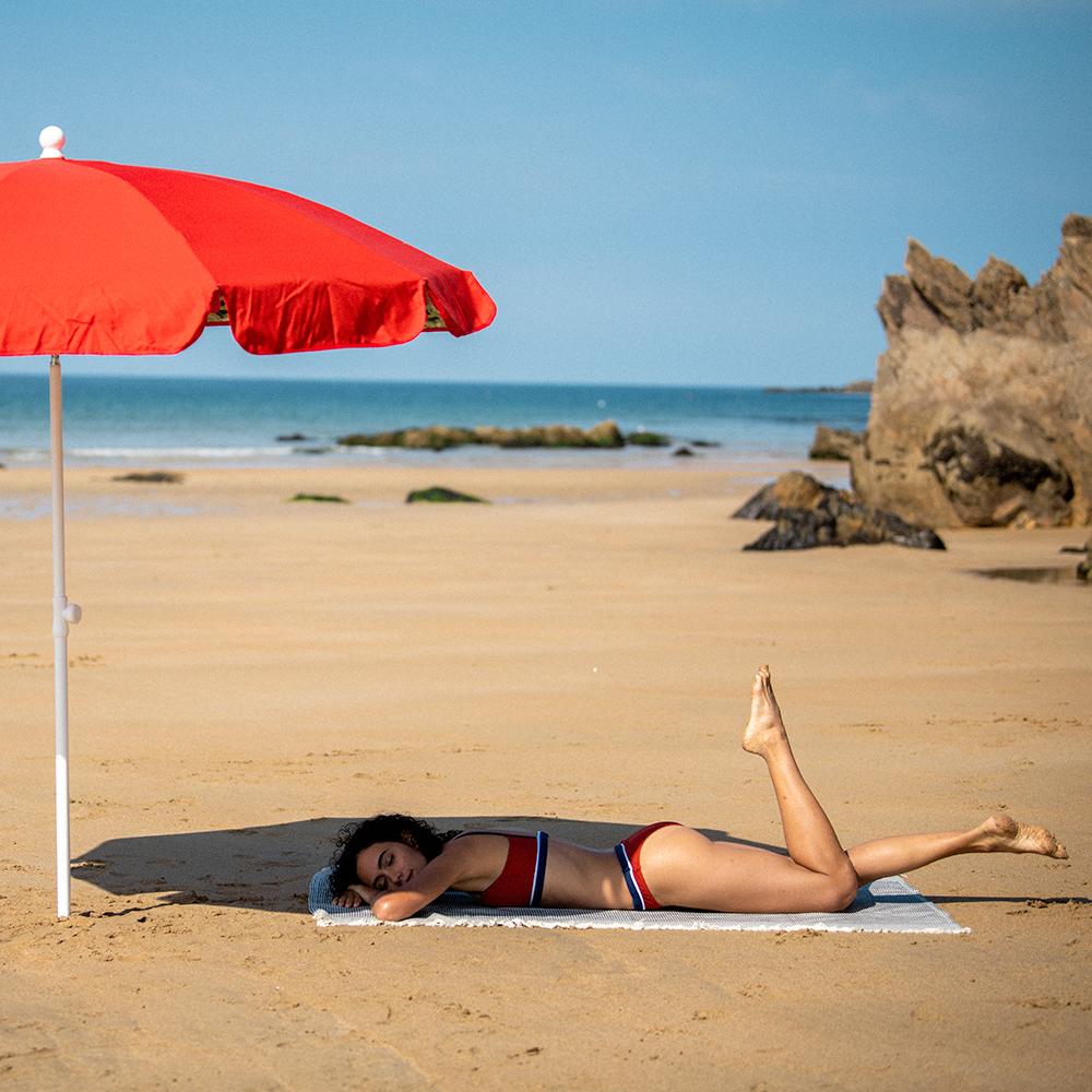 Haut De Maillot Femme Rouget/Marine/Ecru Le Slip Français