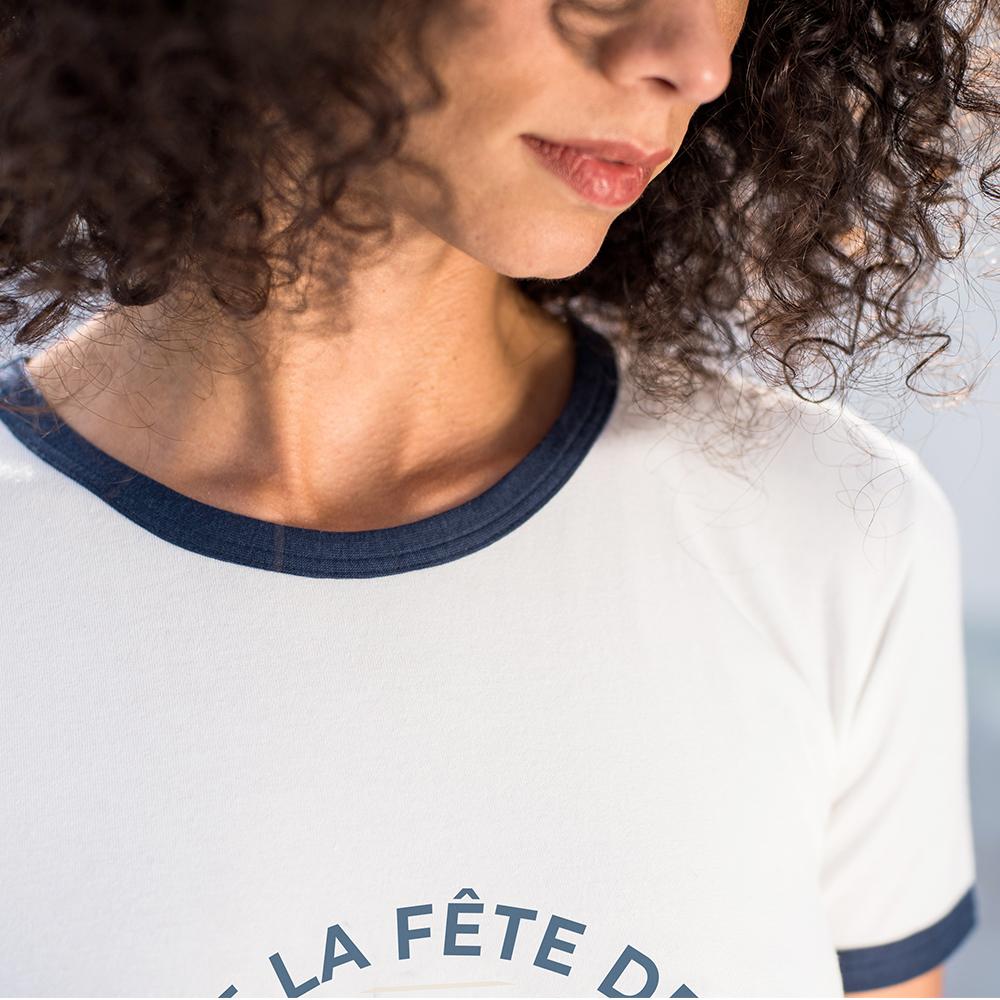Easywear Haut Femme Ecru/Fete Le Slip Français
