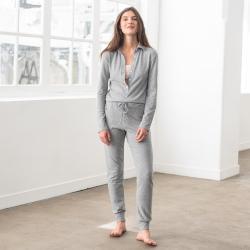 Paula Combinaison pyjama gris chiné