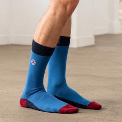 Les lucas tricolore bleu jean - chaussettes