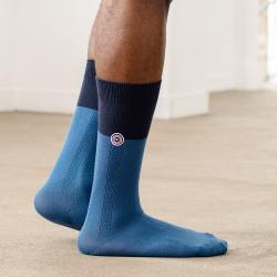 Les Lucas bicolore bleu jean chaussettes