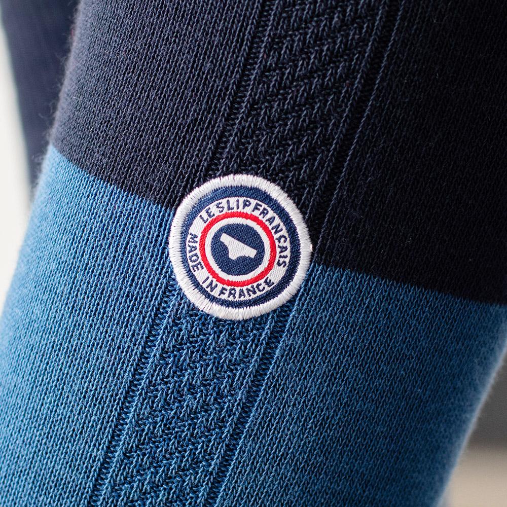 Chaussette Mixte Bico Bleu Jean Le Slip Français