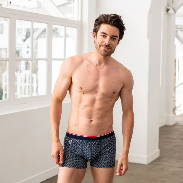Boxer brief short with print