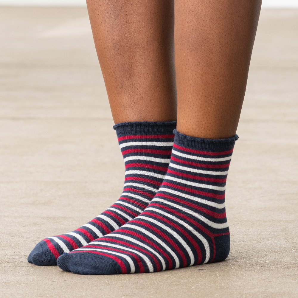 Les luce CR RAYEES MARINE - Chaussettes CR RAYEES MARINE