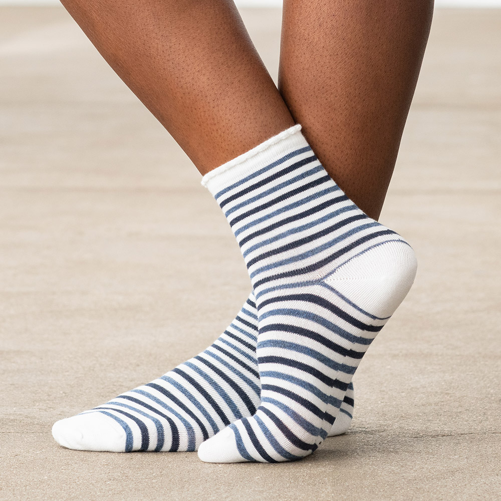 Les luce CR RAYEES BLANC - Chaussettes CR RAYEES BLANC