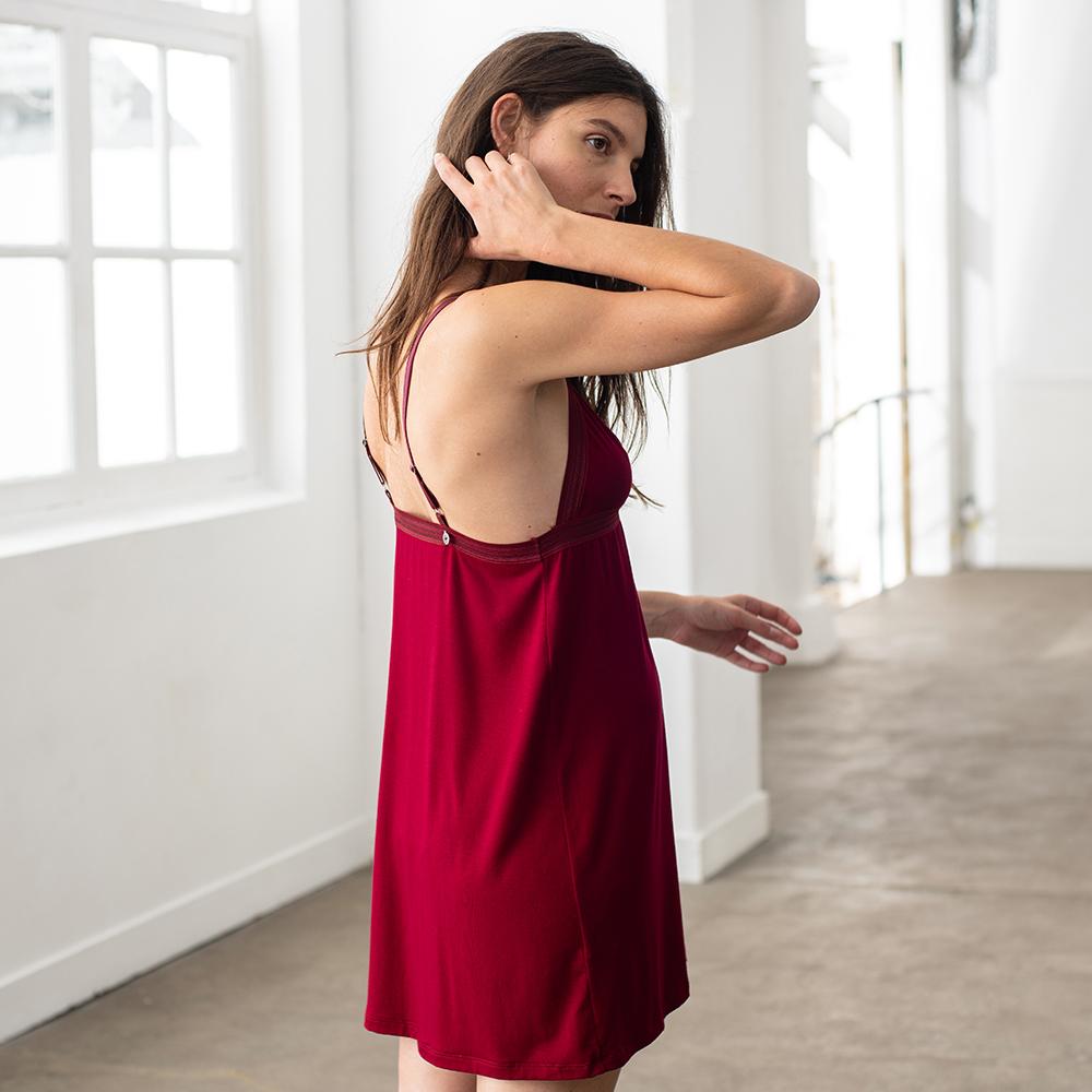 La valentine BORDEAUX - Bas pyjama BORDEAUX