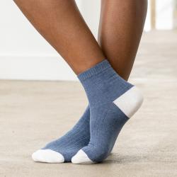 Les Lucie Cotes plates bleu jean - Chaussettes basses