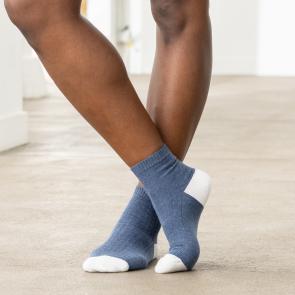 Chaussettes basses en coton chiné et polyamide