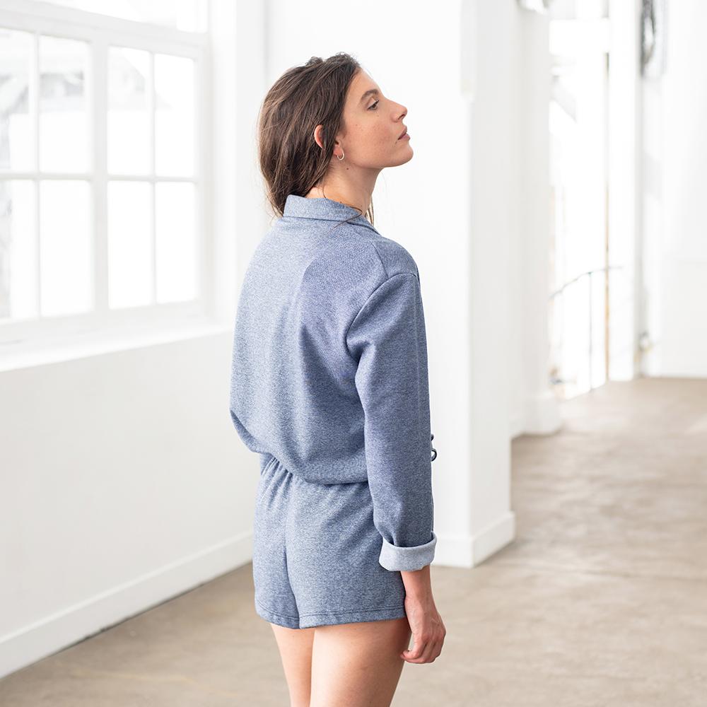 Rita BLEU JEAN CHINE - Bas pyjama
