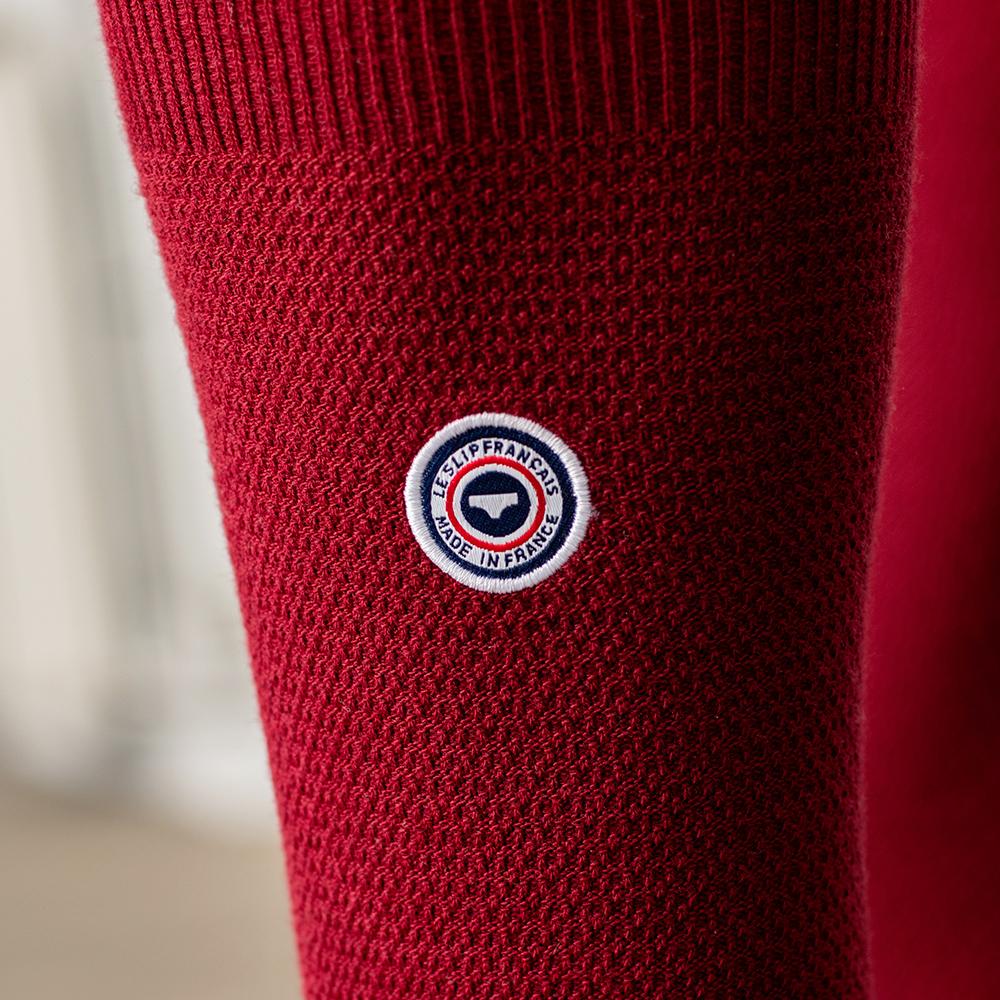 Les lucas BORDEAUX - Chaussettes mi-hautes maille piquée