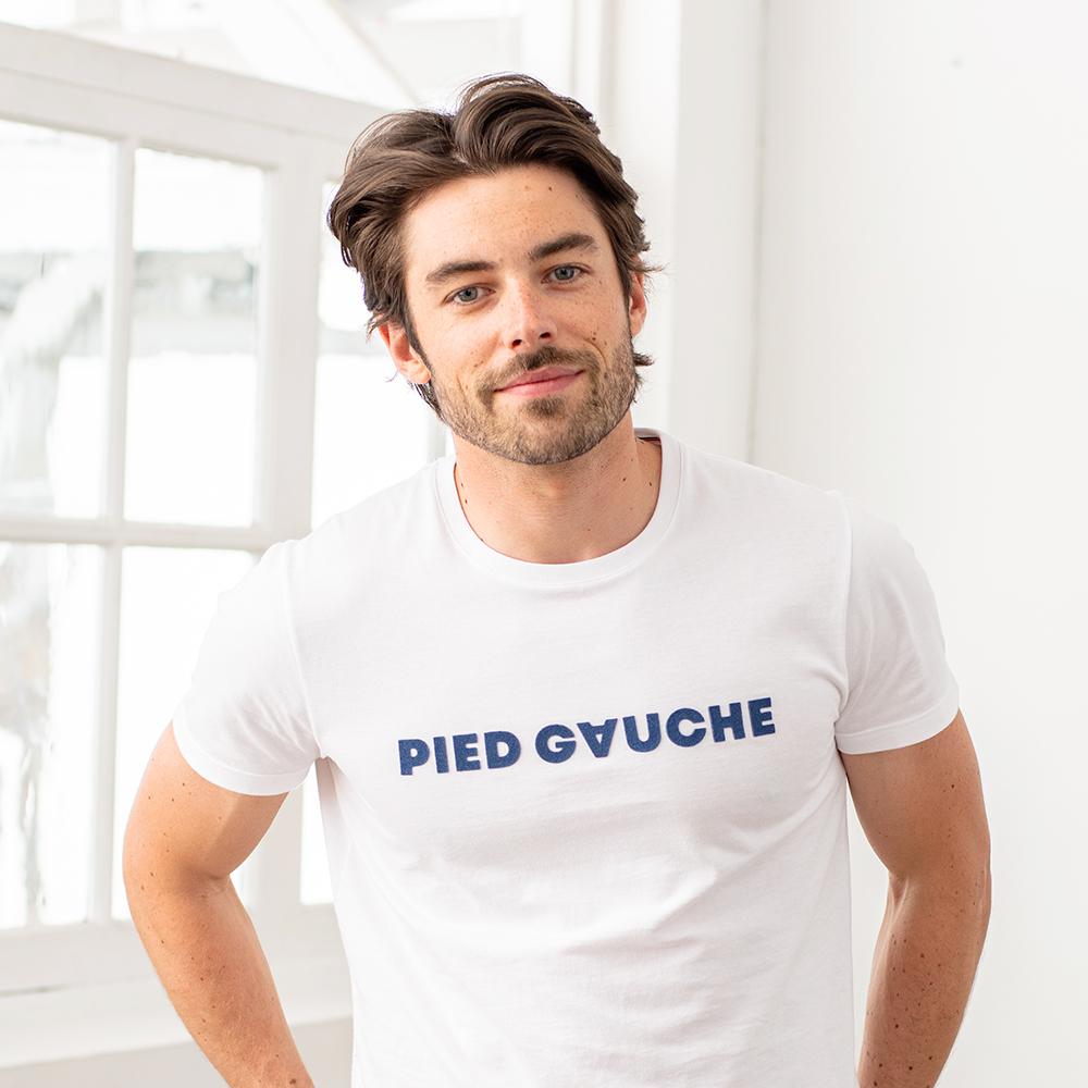 Le jean f BLANC / PIED GAUCHE - Tshirt BLANC / PIED GAUCHE
