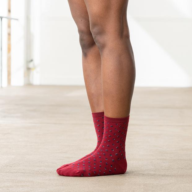 Chaussettes mi-courtes en coton polyamide