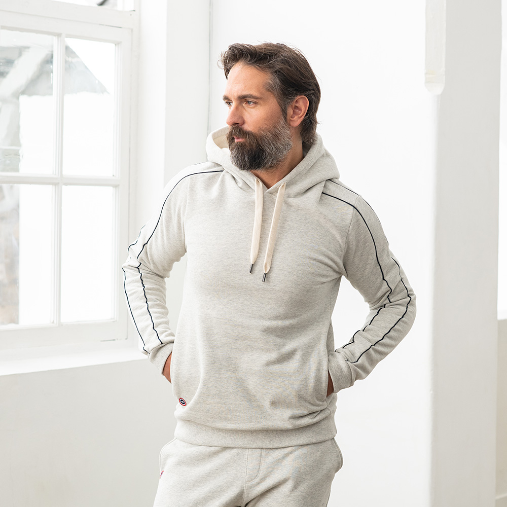 Le max gris retro - sweat à capuche