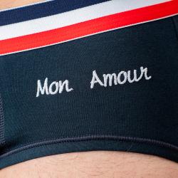 LE TERRIBLE MON AMOUR - Dunkelblauer Slip mit Stickerei