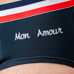 LE TERRIBLE MON AMOUR - Blue brief with embroidery