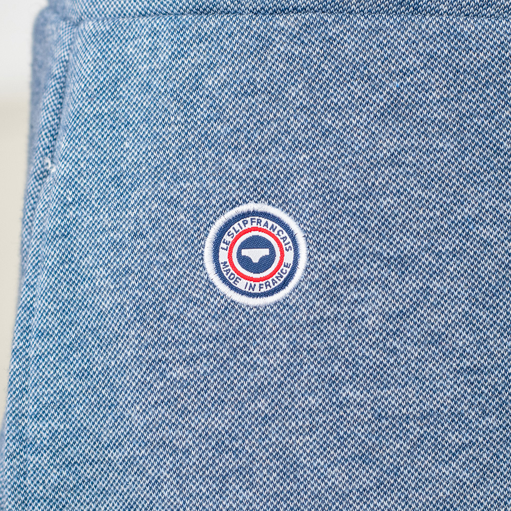 Le Doudou - Bas de pyjama bleu jean chiné