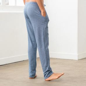 Bas de pyjama en coton peigné