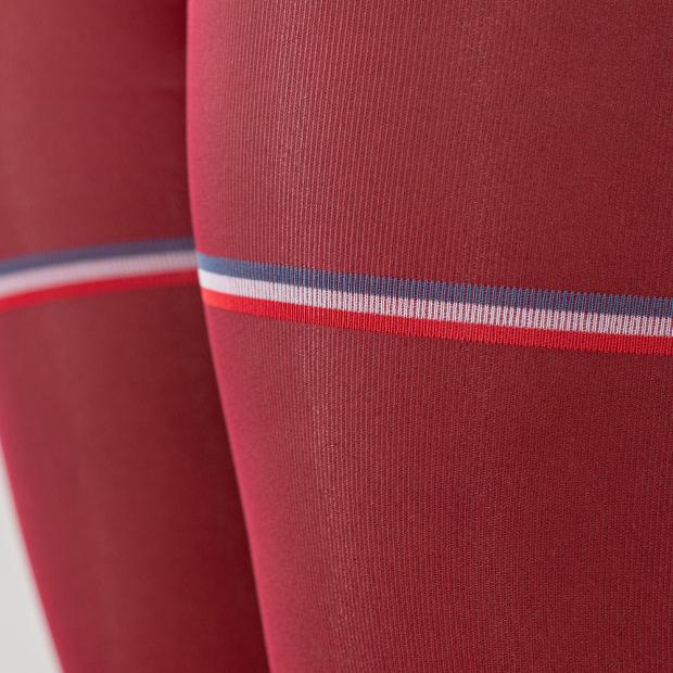 Collants bordeaux semi-opaques