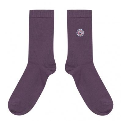 CHAUSSETTES MIXTES EN COTON - Les Lucas - Chaussettes unies violettes