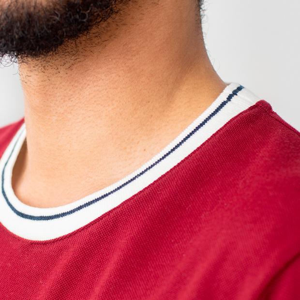 T-shirt piqué en coton