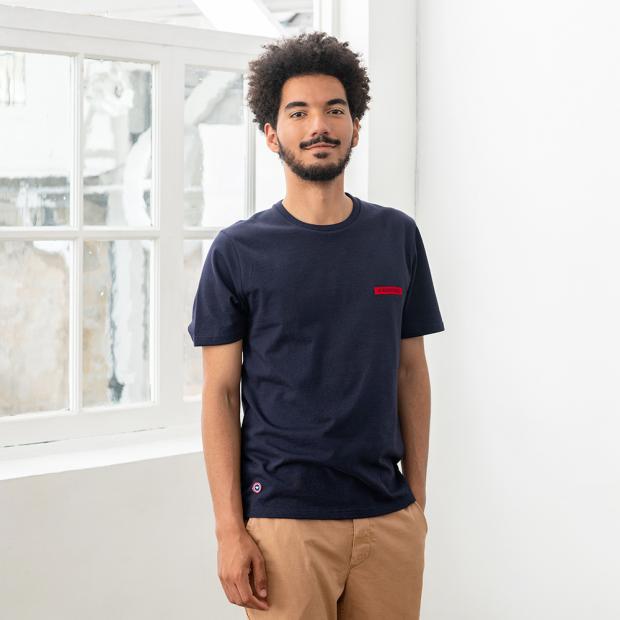 T-shirt floqué en coton