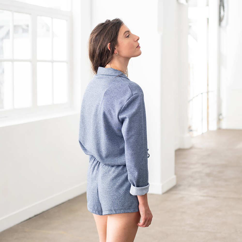 Haut Pyjama Femme La Celia Bleu Jean Chine Le Slip Français