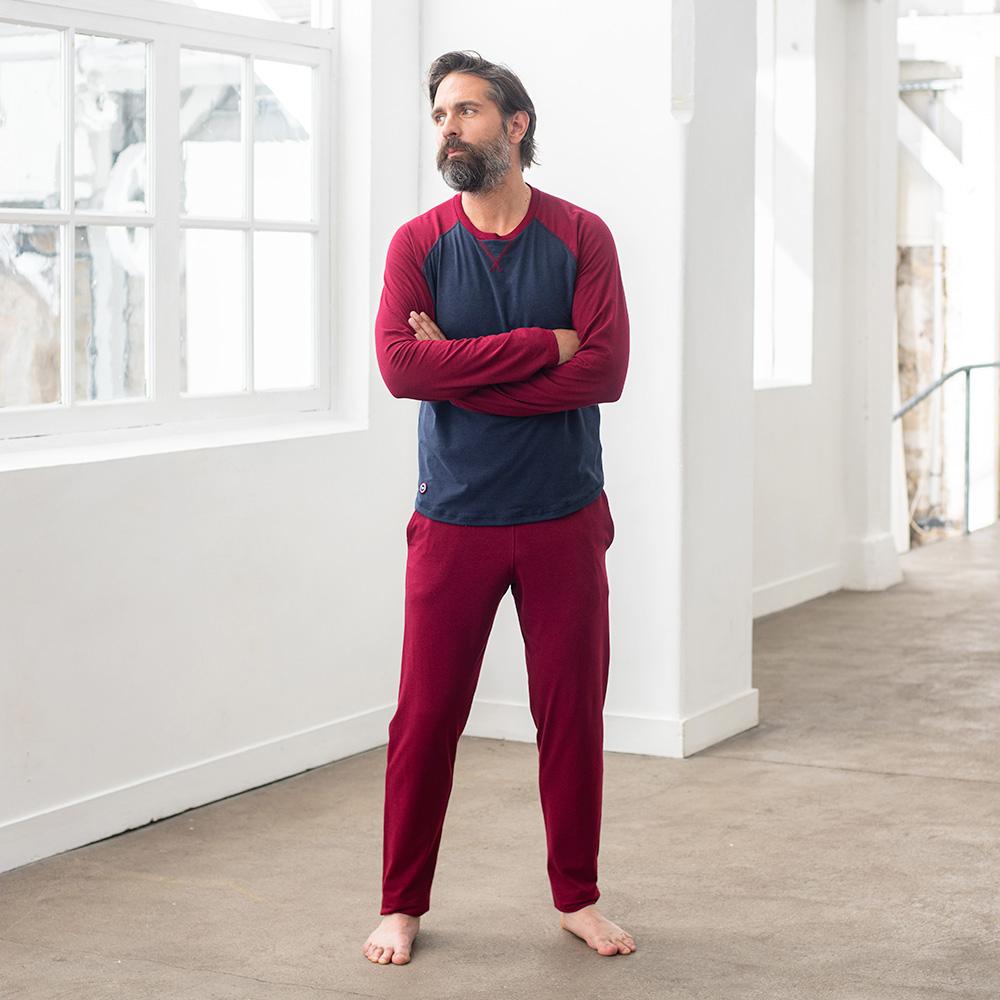 Toudou - bas de pyjama bordeaux