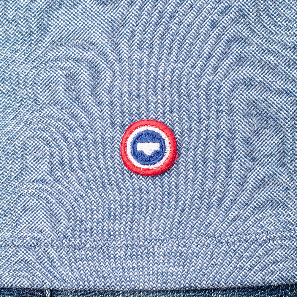 Le foucault BLEU JEAN - Tshirt BLEU JEAN