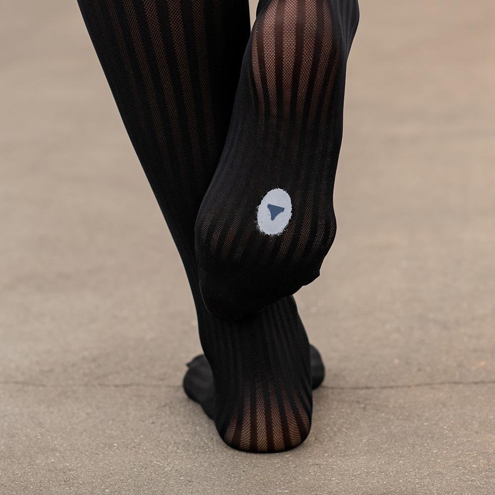 Collant Femme Noir Cotes Le Slip Français