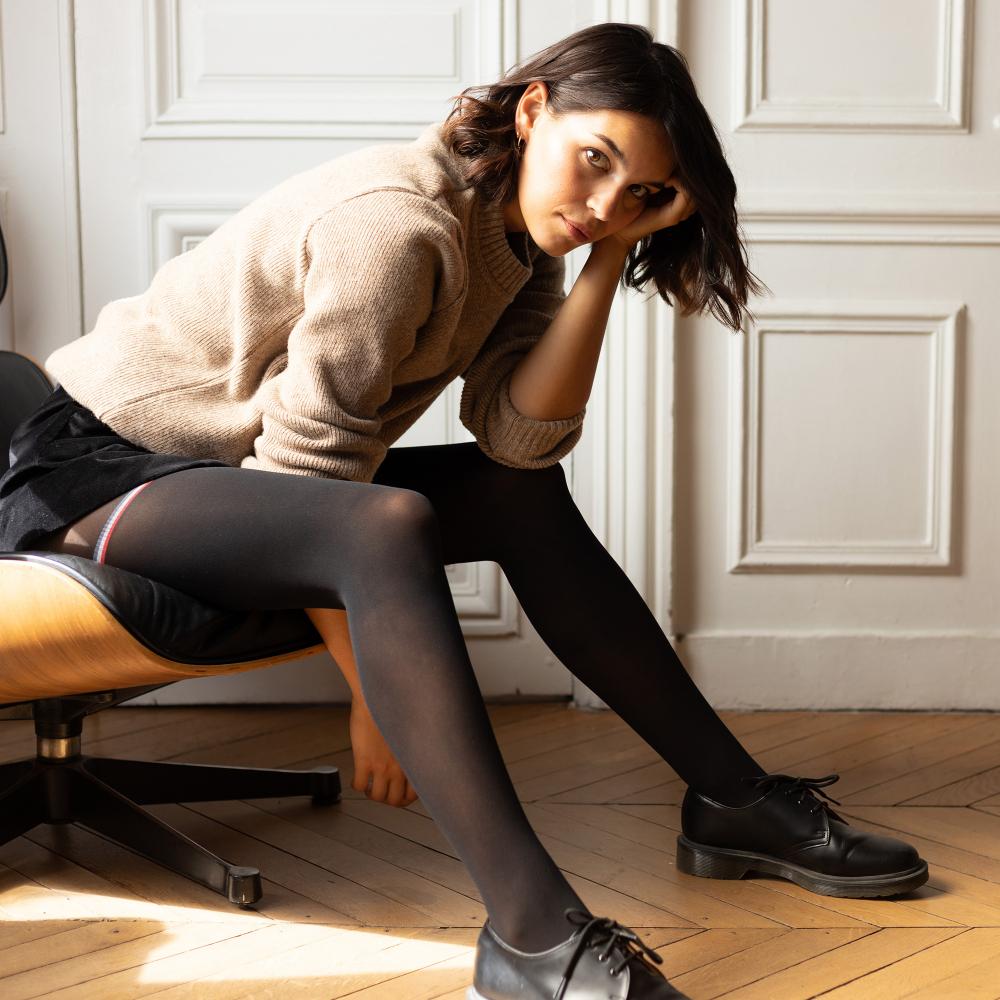 Collant Femme Noir Le Slip Français